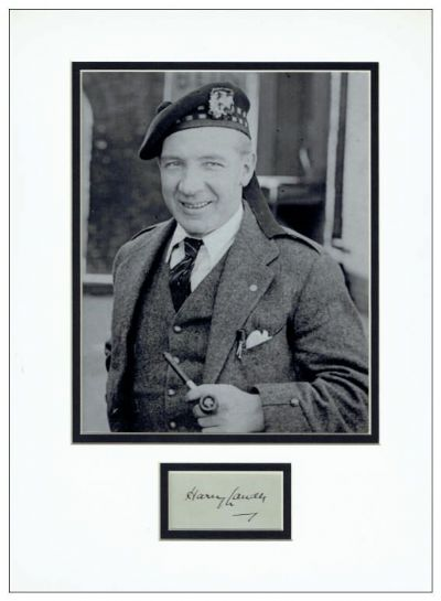Harry Lauder Autograph Signed Display